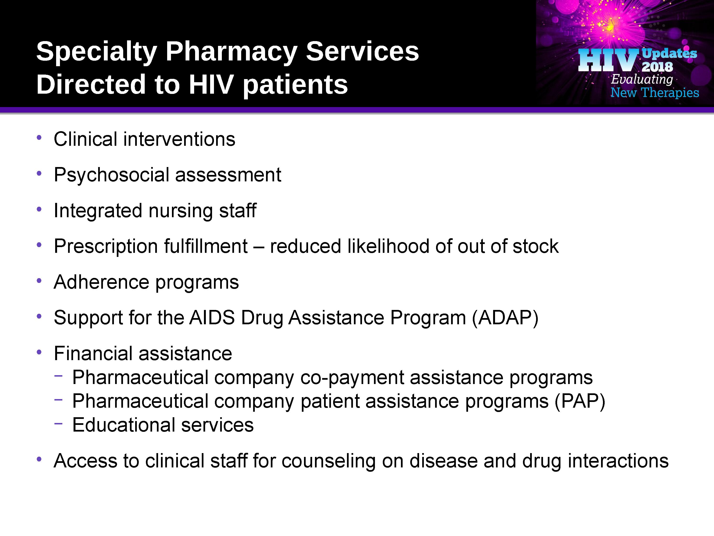 Hiv Managed Care Specialty Pharma 2018